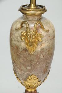 Pair Louis XVI Style Gilt Bronze-Mounted Lamps