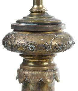Three French Bronze Lamps