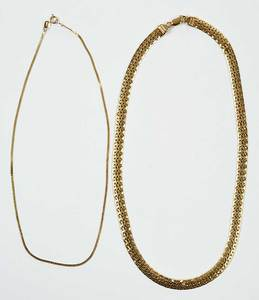 Two 14kt. Gold Necklaces