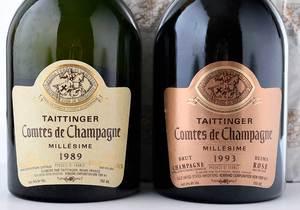 Four Vintage Millésimée Bottles Taittinger Comtes de Champagne