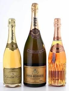 Three Vintage Bottles Champagne Brut and Rosé