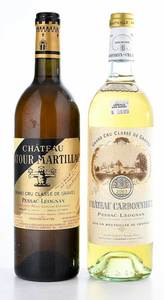 Two Vintage Bottles Pessac-Léognan