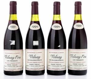 Four Vintage Bottles Joseph Voillot Volnay