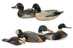 Five Early Working Duck Decoys