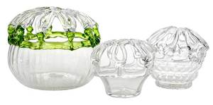 Three Early New Jersey Glass Banks