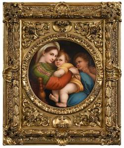 An Italian Grand Tour Porcelain Plaque