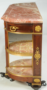 Louis Philippe Oak Marble-Top Commode-Dessert