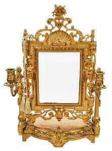 Aesthetic Movement Gilt Bronze Mirror
