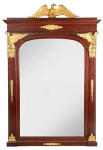 Monumental Napoleon III Mahogany Mirror
