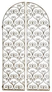 Pair Scrolled Wrought Iron Garden Doors