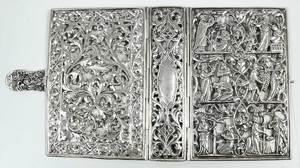 German Silver Book Cover and Filigre Censer