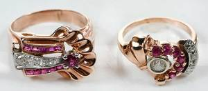 Two 14kt. Gold Retro Rings