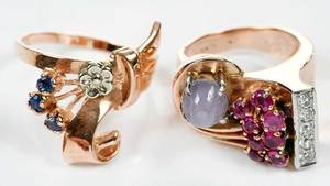 Two 14kt. Gold Gemstone Rings