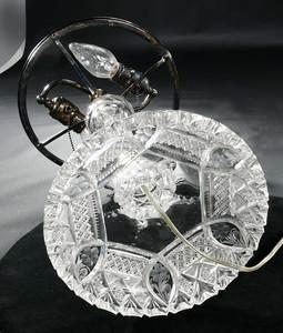 Cut Glass Table Lamp Base