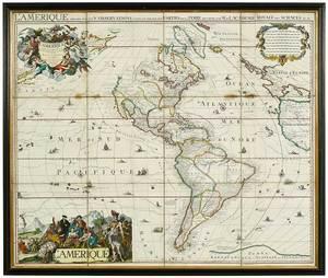 Jean Covens Map L'Amerique