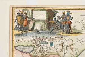 Arnoldus Montanus Map of Virginia and Florida