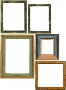 Six Renaissance Type Panel Frames, Three Liners