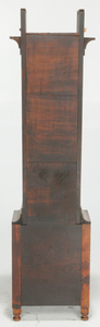 Federal Tiger Maple and Walnut Tall Case Clock