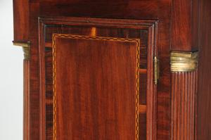 American Federal Inlaid Mahogany Tall Case Clock