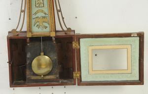 American Federal Églomisé Banjo Clock