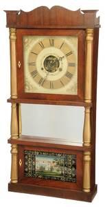 Nashville Tennessee Labeled Triple Decker Clock