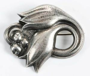 Georg Jensen Sterling Brooch