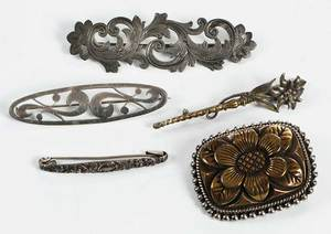 Five Brooches