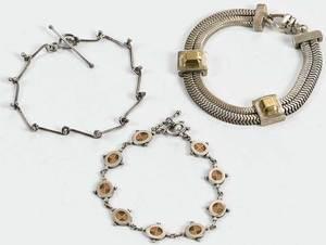 Three Silver Bracelets
