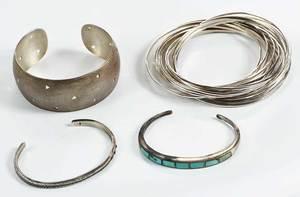 Four Sterling Bracelets