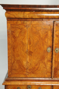 William and Mary Figured Walnut Cabinet