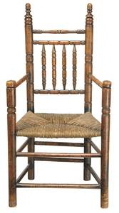 Early American Turned Maple Great Chair
