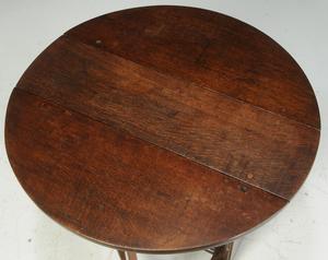 Fine Early British Oak Drop-Leaf Table