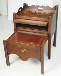 Two Similar Chippendale Bedside Commodes