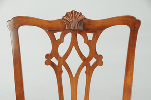 American Chippendale Carved Cherry Side Chair
