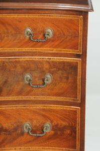 George III Style Inlaid Serpentine Chest