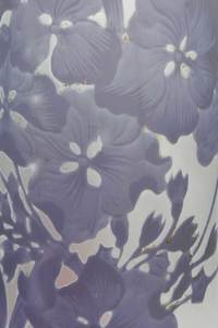 Tall Gallé Cameo Glass Floral Vase