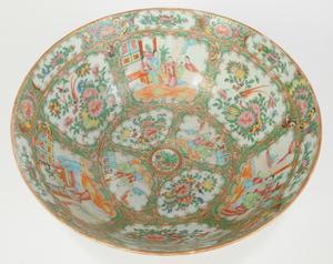 Rose Medallion Punch Bowl and Fruit Bowl