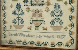 Two Wernham Family Embroideries