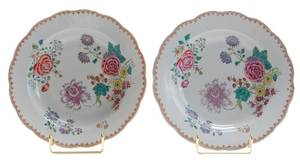 Pair Famille Rose Plates