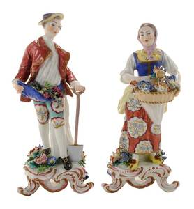 Pair Georgian Bow Figurines