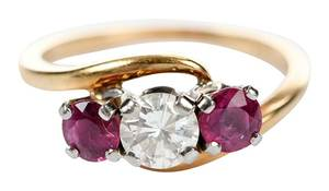 Jabel 18kt. Diamond & Ruby Ring