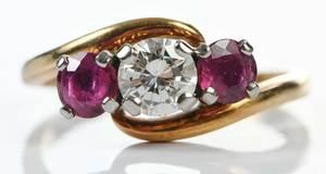 Jabel 18kt. Diamond & Ruby Ring