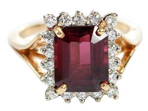 14kt. Garnet & Diamond Ring