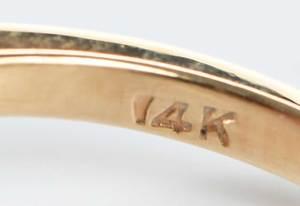 14kt. Garnet & Diamond Ring