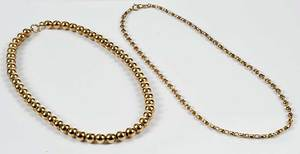 Two 14kt. Necklaces