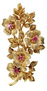 Tiffany & Co. 18kt. Ruby Brooch