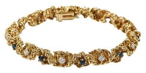 18kt. Diamond & Sapphire Bracelet