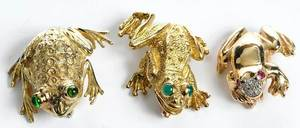 Three Gold Brooches, One Tiffany & Co.