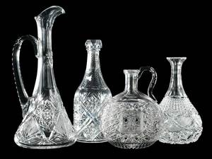 Four Cut Glass Decanters, J. Hoare