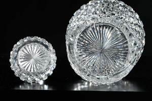 Cut Glass Hobnail Decanters, Tumbler, Dorflinger